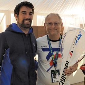 Mit Jeremy Chardy (FRA) in Doha