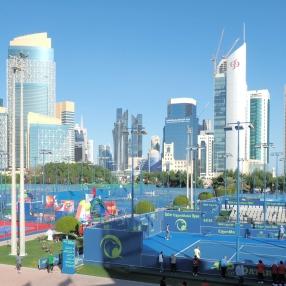 Khalifa International Tennis Complex in Doha/ Qatar