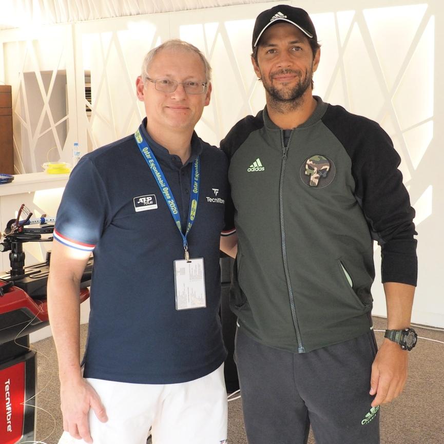 Mit Fernando Verdasco in Doha